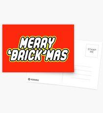 MERRY 'BRICK'MAS Postcards