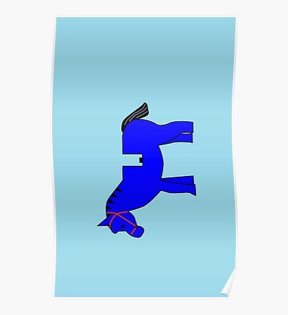 Interpretation of a Minifig Horse Poster