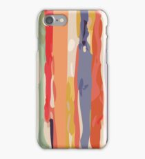Abstract Vertical brush in MultiColor iPhone Case/Skin