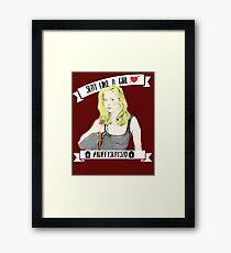Buffy Slays Like A Girl  Framed Print