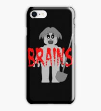 """Zombie Minifig """"BRAINS"""", by Customize My Minifig iPhone Case/Skin"""
