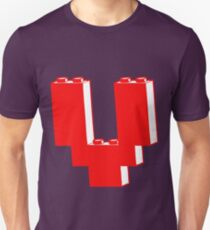 THE LETTER V, by Customize My Minifig T-Shirt