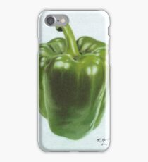 """Green Bell Pepper"" iPhone Case/Skin"