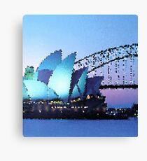 Fractal Scapes - Sydney Canvas Print