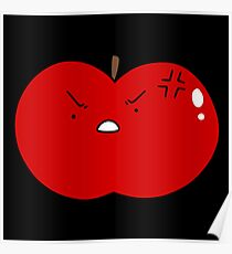 Angry Red Apple Poster