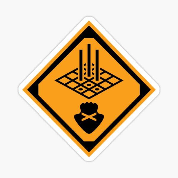 Don't Swim on the Grates Sticker