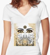 Eyes of Time Women's Fitted V-Neck T-Shirt