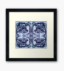 Abstract Ink Design Pattern Ink Swirl Figures Framed Print