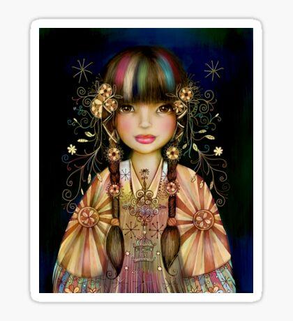 Rainbow Princess Sticker