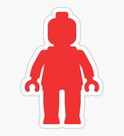 Minifig [Large Red] Sticker