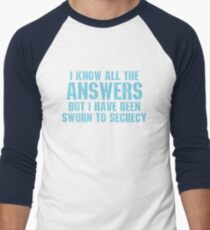 All the Answers Men's Baseball ¾ T-Shirt
