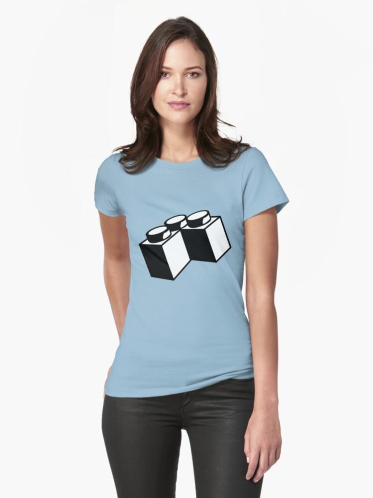 2 x 2 Brick Corner Womens T-Shirt Front