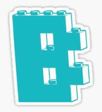 THE LETTER B, by Customize My Minifig Sticker