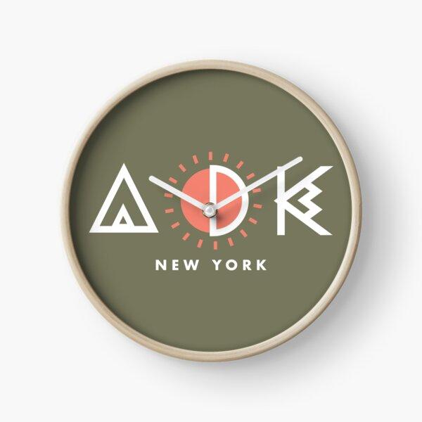 Adirondacks New York Geometric Design Clock