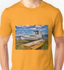 Fishing boat on the beach T-Shirt