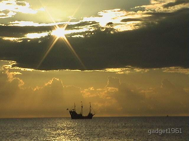 pirate ship coming home by gadget1961
