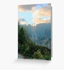 Breathtaking Powerline  Greeting Card