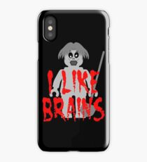"""Zombie Minifig """"I LIKE BRAINS"""", by Customize My Minifig iPhone Case"""