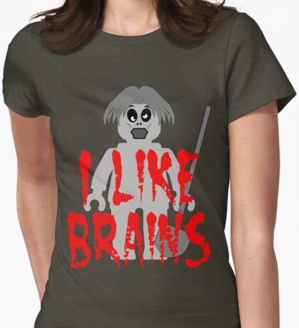 "Zombie Minifig ""I LIKE BRAINS"", by Customize My Minifig T-Shirt"