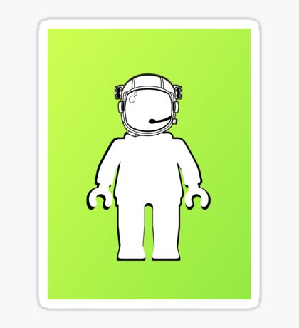 Banksy Style Astronaut Minifig  Customize My Minifig Sticker