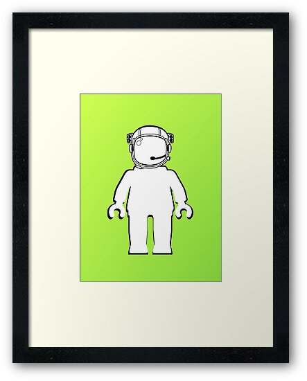 Banksy Style Astronaut Minifig  Customize My Minifig by Customize My Minifig