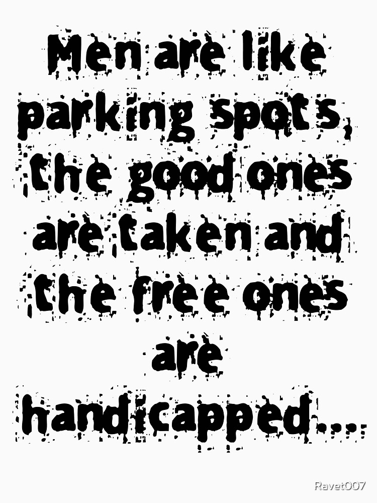 Men and parking - black text by Ravet007