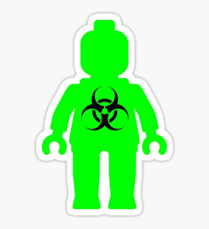 Minifig with Radioactive Symbol Sticker