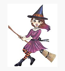 Broomstick witch Photographic Print