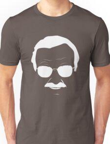 Stan Lee in White Unisex T-Shirt