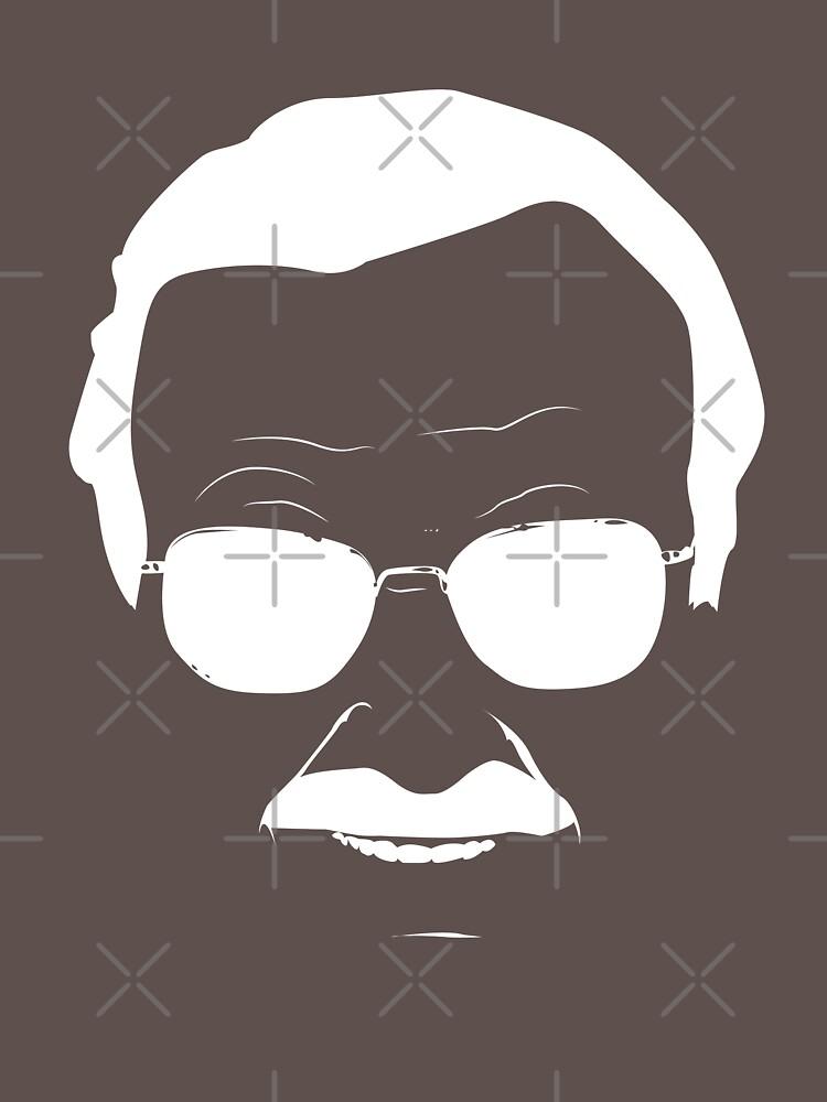 TShirtGifter presents: Stan Lee in White   Unisex T-Shirt