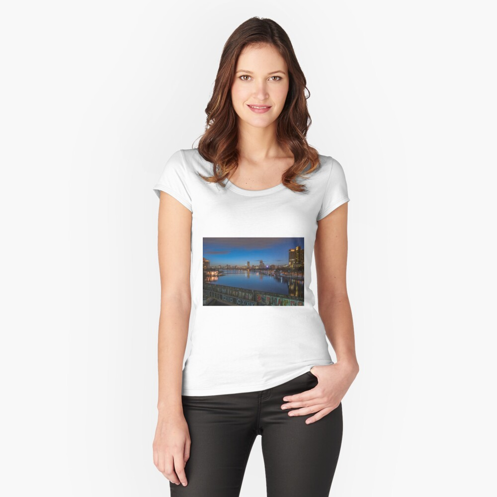 Blue Hour, Boston Women's Fitted Scoop T-Shirt Front