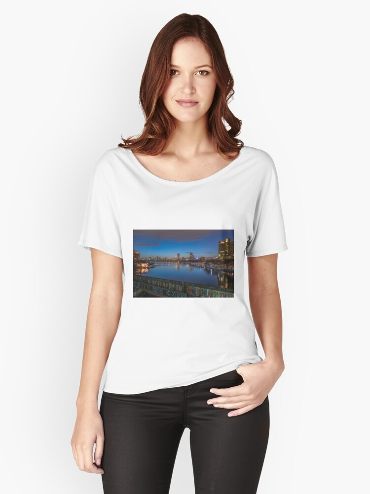 Blue Hour, Boston Women's Relaxed Fit T-Shirt Front