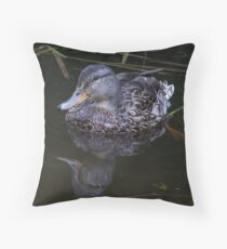 duck  mill creek park washington  Throw Pillow