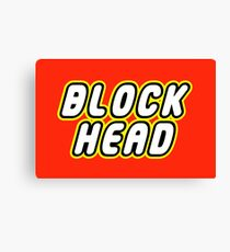 BLOCK HEAD Canvas Print