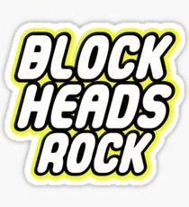 BLOCK HEADS ROCK Sticker