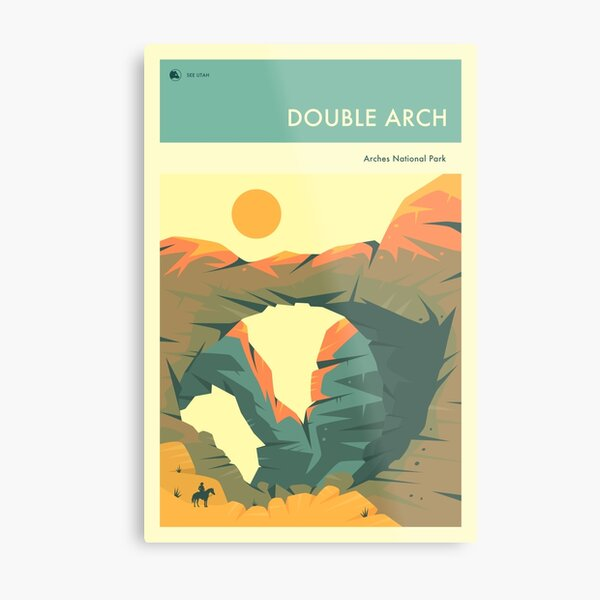 THE DOUBLE ARCH Metal Print