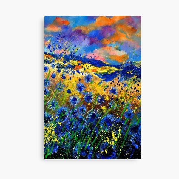 Blue Cornflowers 9652 Canvas Print