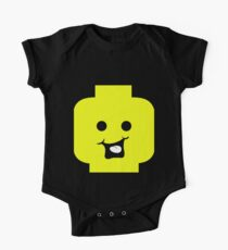 Cheeky Minifig Head One Piece - Short Sleeve