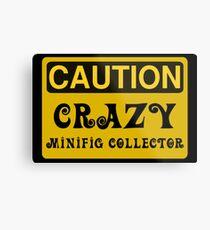 Caution Crazy Minifig Collector Sign Metal Print