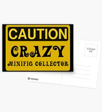 Caution Crazy Minifig Collector Sign Postcards