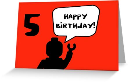 Happy 5th Birthday Greeting Card by ChilleeW
