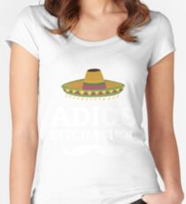 Adios Bitchachos Funny Mexican T Shirt P Women's Fitted Scoop T-Shirt
