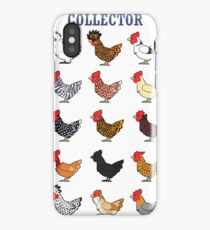 Chicken collector iPhone Case/Skin