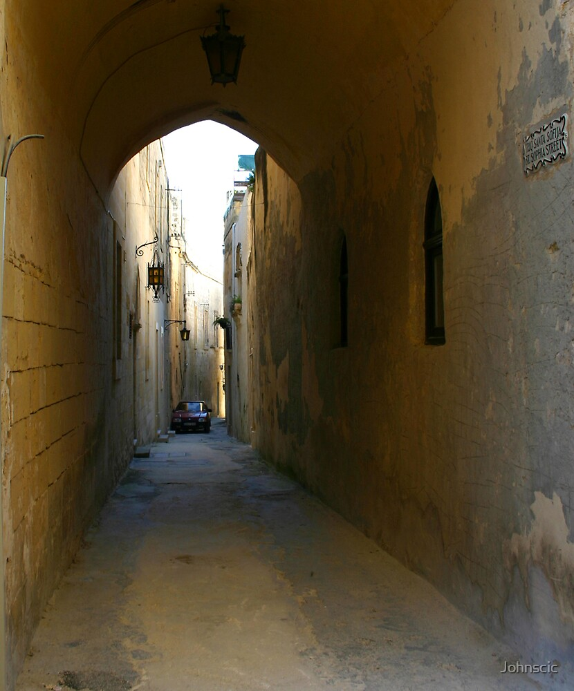 St. Sophia Street, Mdina. by Johnscic