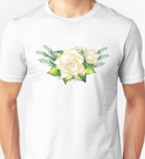 Watercolor yellow roses Unisex T-Shirt