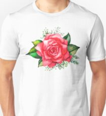 Watercolor red roses Unisex T-Shirt