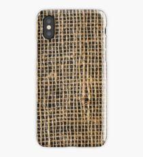 Burlap sack iPhone Case/Skin
