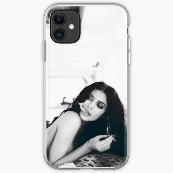 Kylie Jenner Monochrome Chilling iPhone Soft Case