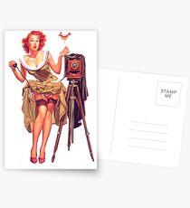 Pin-up photographer Postcards