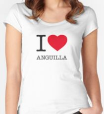 I ♥ ANGUILLA Women's Fitted Scoop T-Shirt